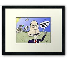 PM italien Enrico LETTA webcomic Framed Print