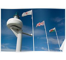Cardiff Bay Flags Poster