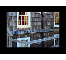 Historic Grist Mill Building Detail - Stony Brook, New York  Photographic Print