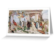 Ceremonial Curtain of the Croatian National Theatre Greeting Card