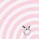 Pokemon - Wigglytuff Circles iPad Case by Aaron Campbell