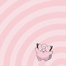 Pokemon - Clefairy Circles iPad Case by Aaron Campbell