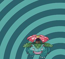 Pokemon - Venusaur Circles iPad Case by Aaron Campbell