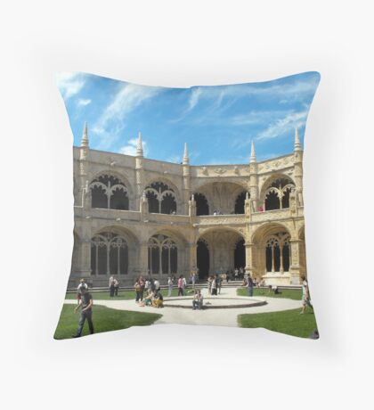 Mosterio Dos Jeronimos, Lisbon Throw Pillow