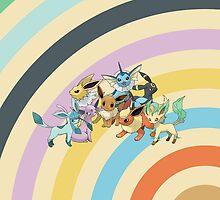 Pokemon - Eeveelution Circles iPad Case by Aaron Campbell