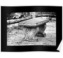 Old Bench Behind Grist Mill - Stony Brook, New York Poster