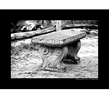 Old Bench Behind Grist Mill - Stony Brook, New York Photographic Print