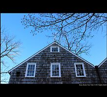 Historic Grist Mill Building Windows - Stony Brook, New York by © Sophie W. Smith