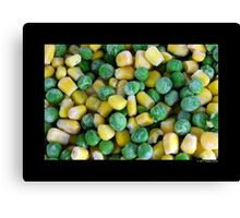 Frozen Vegetables - Peas And Corn Canvas Print