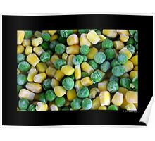 Frozen Vegetables - Peas And Corn Poster