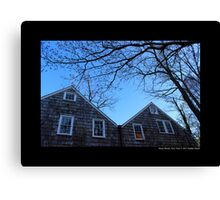 Historic Grist Mill Building Detail - Stony Brook, New York Canvas Print