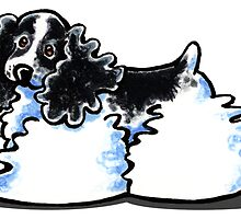 Black & White Parti Cocker Spaniel by offleashart