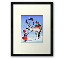 Reindeer Girl Framed Print