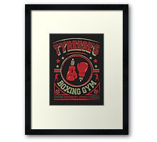 Tyreese's Boxing Gym Framed Print