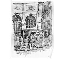 Loggia dei mercanti a Genova Poster