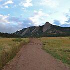 Boulder Colorado Flatirons by Nina Brandin
