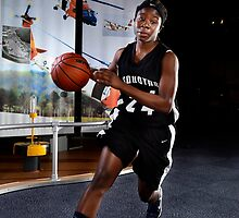 Pasquotank basketball player Mikeara Jordan, Monday, March 25, 2013. by Brett Clark