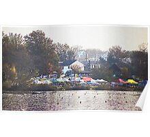 111012  cooper river regatta 010 colored pencil Poster