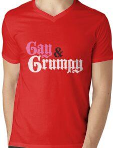 Gay and Grumpy Mens V-Neck T-Shirt