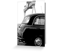 Belfast Black Taxi Service Greeting Card