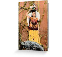 The Iguana Keeper Greeting Card