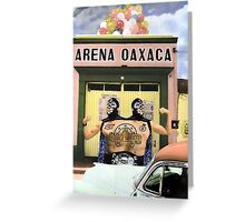 The Luchadors Double & Luck Greeting Card