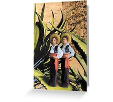 In The Garden of The Giant Agave Greeting Card
