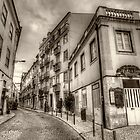Backstreets Of Lisbon Sepia by manateevoyager