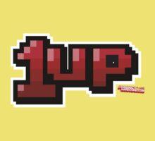 1up - Gamer Video Games Geek Kids Tee