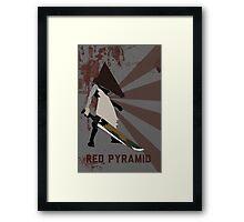 Red Pyramid Framed Print