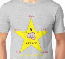 JKD 5 ways of Attack JKD Unisex T-Shirt