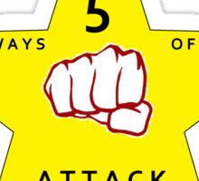 JKD 5 ways of Attack JKD Sticker