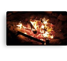 Smouldering Fire Canvas Print