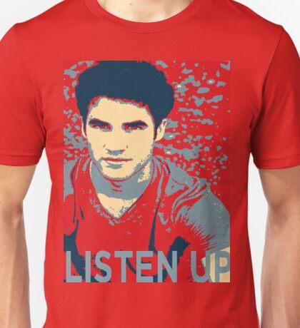 Darren Criss Listen Up Obama Hope T-Shirt