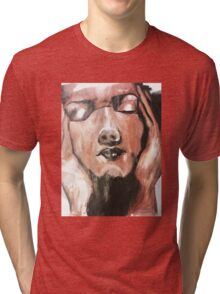 Face Painted Design Tri-blend T-Shirt