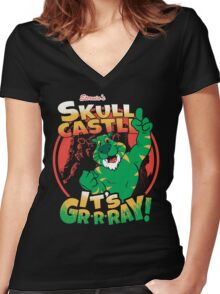 It's Gr-r-ray! Women's Fitted V-Neck T-Shirt
