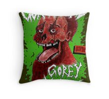 Goregrind - Gorey Musick Throw Pillow