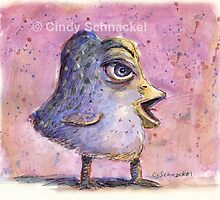Recycled Blue Bird by Cindy Schnackel