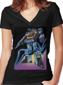 Soundwave Reformatted Women's Fitted V-Neck T-Shirt
