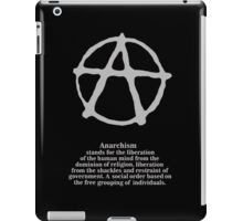Anarchy. iPad Case/Skin