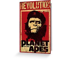 Revolution of the Planet of the Apes Greeting Card