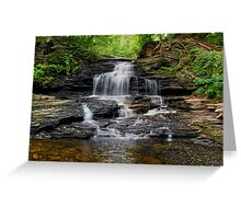 Onondaga Falls In Ricketts Glen Greeting Card