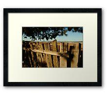 Joe Mortelliti Gallery - Old fence, Ascot Farm Lands Framed Print