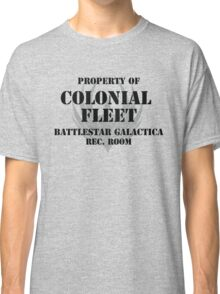 Colonial Fleet Battlestar Galactica Rec. Room Classic T-Shirt