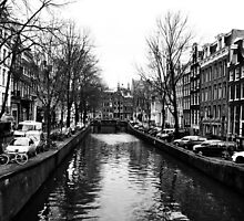 One of Many Amsterdam's Canals by Jane Ruttkayova