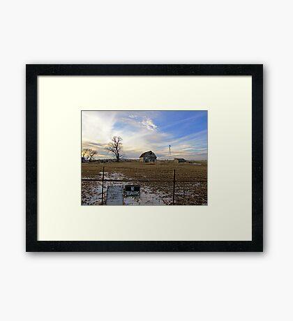 Rural Relics Framed Print