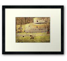 Cheap labor Framed Print