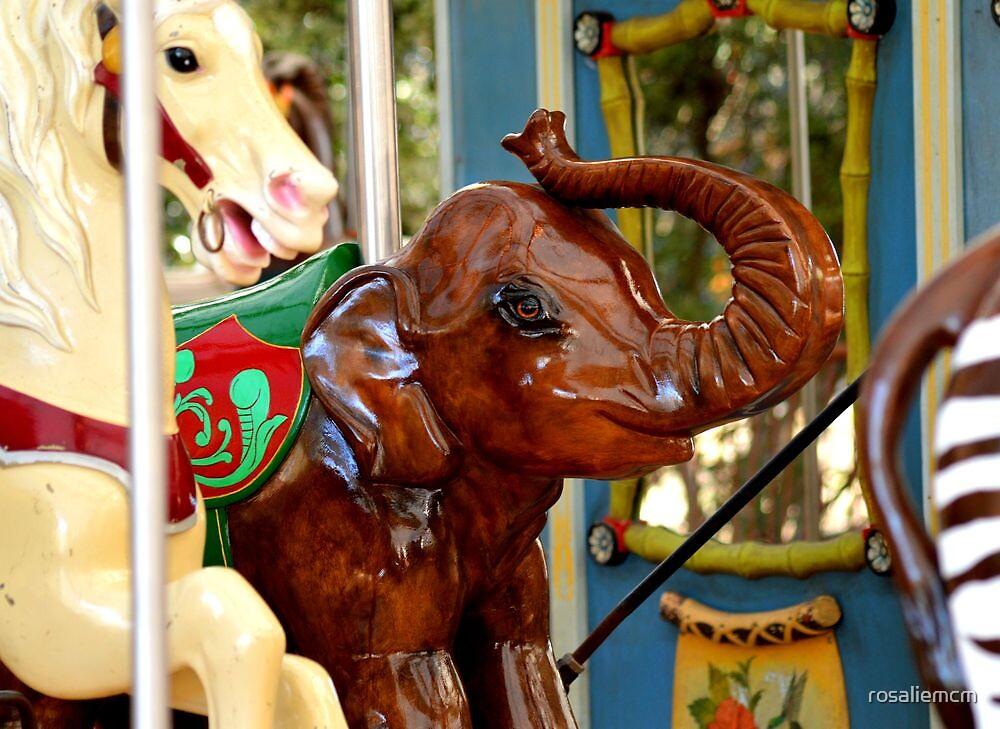 Elephant On Merry-Go-Round by rosaliemcm
