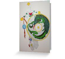 Sword & Dragon Greeting Card