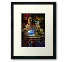 the teller Framed Print